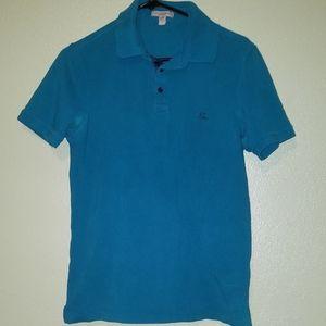 Burberry Brit Logo Polo Shirt Blue Size Small